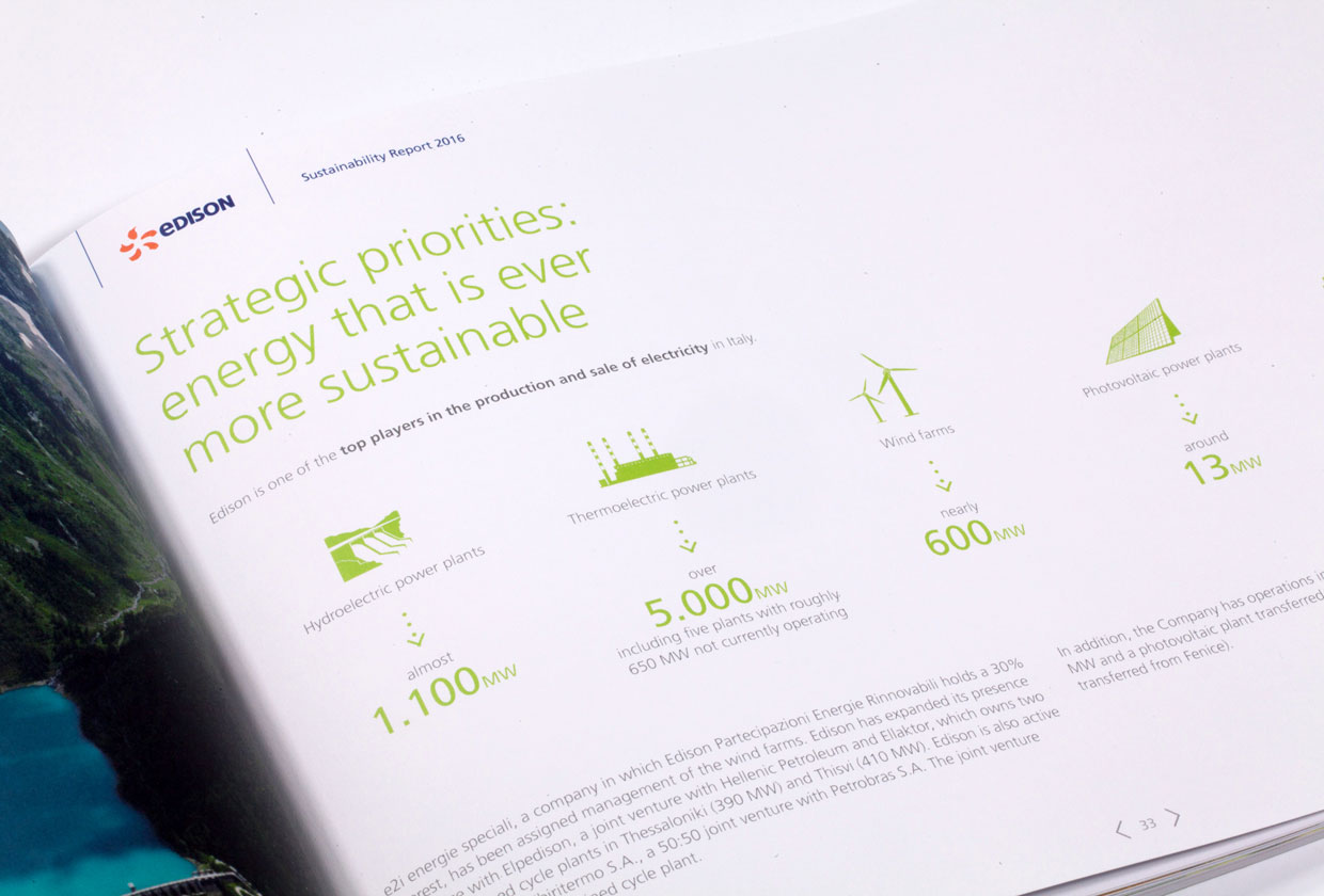 Edison, Sustainability Report 2016
